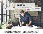 media communication online... | Shutterstock . vector #380026057