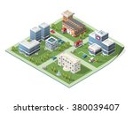 build your own isometric city.... | Shutterstock .eps vector #380039407
