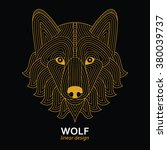 creative stylized wolf head in... | Shutterstock .eps vector #380039737