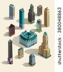 isometric buildings. set... | Shutterstock .eps vector #380048863