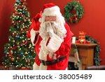 Santa Claus Sneaking Into Home