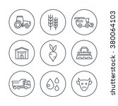 agriculture  farming line icons ... | Shutterstock .eps vector #380064103
