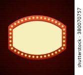 retro showtime sign design.... | Shutterstock .eps vector #380070757