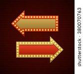retro showtime sign design.... | Shutterstock .eps vector #380070763