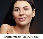 beautiful face of young... | Shutterstock . vector #380078533