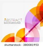 geometric design abstract... | Shutterstock .eps vector #380081953