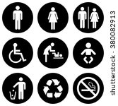 people icon set . toilet icons .... | Shutterstock .eps vector #380082913