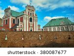 Baroque Catholic Church Behind...