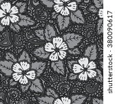 romantic seamless pattern with... | Shutterstock .eps vector #380090617