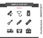 medical simple icon   Shutterstock .eps vector #380092837