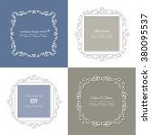 filigree paper cut frames. can... | Shutterstock .eps vector #380095537