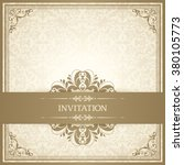 vintage template with pattern...   Shutterstock .eps vector #380105773