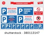 car parking sign  private car... | Shutterstock .eps vector #380113147