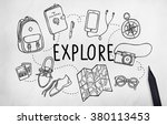 explore exploration travel... | Shutterstock . vector #380113453