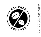 food product badge   soy free | Shutterstock .eps vector #380130793