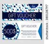 gift voucher. vector ... | Shutterstock .eps vector #380138797