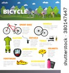 bicycles accessories isolated... | Shutterstock .eps vector #380147647
