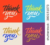 thank you calligraphy  set of... | Shutterstock .eps vector #380151073