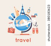 travel the world. vector... | Shutterstock .eps vector #380183623