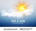 sun   cloud. weather   forecast ... | Shutterstock .eps vector #380191477