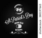 patrick day beer label design... | Shutterstock .eps vector #380197663