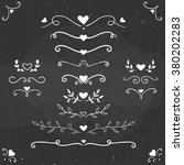set of vintage flourishes ... | Shutterstock .eps vector #380202283