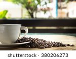 cup of coffee beans | Shutterstock . vector #380206273