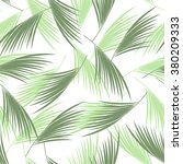 tropical palm leaves seamless... | Shutterstock .eps vector #380209333