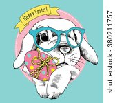 Easter Poster With Image Of A...
