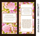 vintage delicate invitation... | Shutterstock .eps vector #380213677