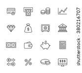 finance line icons   Shutterstock .eps vector #380216707
