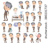 set of various poses of double... | Shutterstock .eps vector #380231737