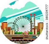 vector illustration fluorescent ... | Shutterstock .eps vector #380239777