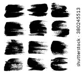 black big textured strokes set... | Shutterstock .eps vector #380245513