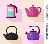vector flat style icons set of... | Shutterstock .eps vector #380246143