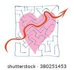 heart declaration of love in... | Shutterstock .eps vector #380251453
