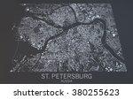 st. petersburg map  satellite... | Shutterstock . vector #380255623