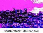 metal letterpress types. a... | Shutterstock . vector #380264563