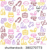 intim or sex shop colorful... | Shutterstock .eps vector #380270773