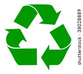 green recycling symbol isolated ... | Shutterstock . vector #38028889