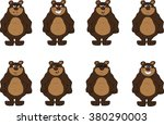 collection of cute bear... | Shutterstock .eps vector #380290003