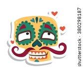 mexican skull  lover  macho   Shutterstock .eps vector #380298187