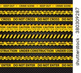 vector set of seamless caution... | Shutterstock .eps vector #380309287