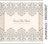 elegant save the date card with ... | Shutterstock .eps vector #380310847