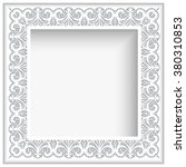 square vector frame with paper... | Shutterstock .eps vector #380310853