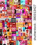 art collage  musical vector... | Shutterstock .eps vector #380313427