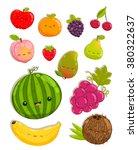 mango  coconut  cherry ... | Shutterstock .eps vector #380322637