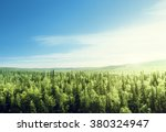 forest in sunset time | Shutterstock . vector #380324947