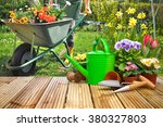 Gardening Tools Flowers Terrace Garden - Fine Art prints