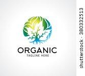 landscaping logo design concept.... | Shutterstock .eps vector #380332513